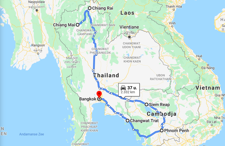 backpack route cambodja thailand
