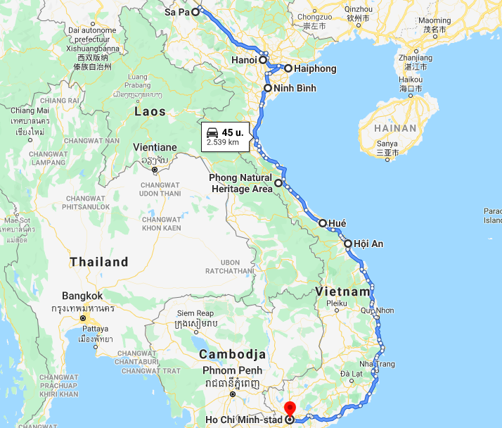 backpack route vietnam