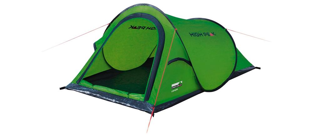 high peak campo tent groen