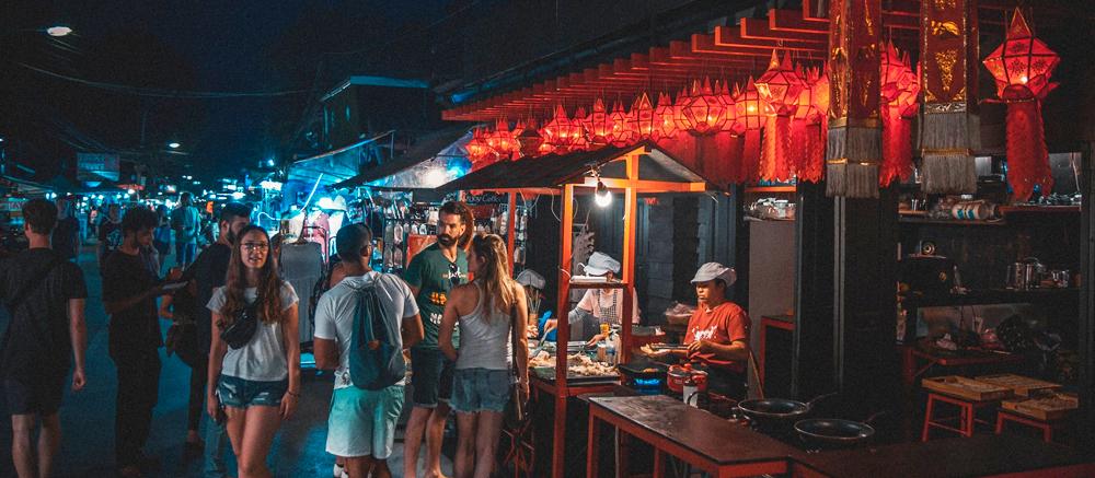 nacht markt thailand street food